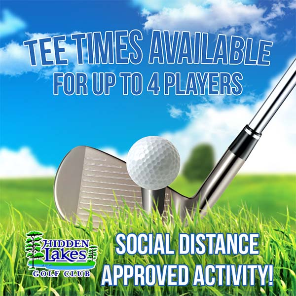 Tee Time Available For Up To 4 Players! Social Distance Approved Activity